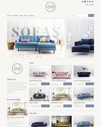 Furniture Interior Design Ecommerce Website Templates Free And Inspiration Furniture Website Design