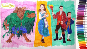 Small Picture NEW BEAUTY AND THE BEAST Movie 2017 Characters Coloring Pages
