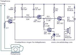contactless telephone ringer circuit electronic circuits and contactless telephone ringer circuit jpg