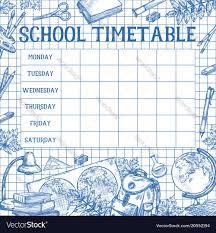 Design Schedule Template School Sketch Timetable Schedule Template