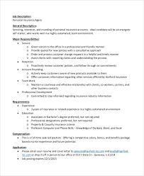 Life Insurance Agent Life Insurance Agent Job Description