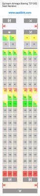 Surinam Airways Boeing 737 300 733 Seat Map United