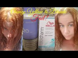 orange yellow hair vs t18 wella toner