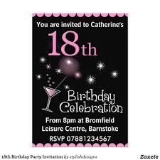 birthday invitations awesome 18th birthday party invitation templates