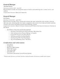 Fitness Sales Manager Resume Professional Resume Templates