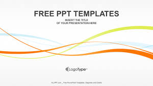 wave powerpoint templates colorful waves abstract powerpoint templates