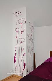 hand painted flowers on walls | Wall Painting (Pictura pe perete) -  Handmade by