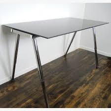 ikea galant standing desk. Brilliant Galant IKEA Galant Adjustable Height Glass Standing Desk Work Table  Throughout Ikea