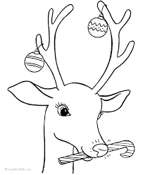 Christmas Reindeer Coloring Pages Ng For Kids Top On Sheets
