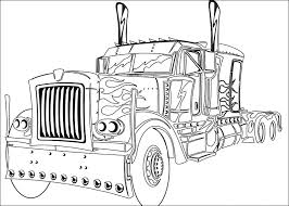 Small Picture Optimus prime coloring pages truck ColoringStar