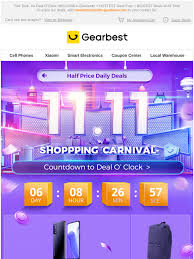 gearbest ES: (Here's Your Invitation) Hey, Join Our 11.11 Party to ...