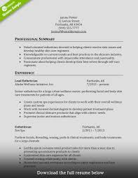 Cosmetology Resume Esthetician Resume For Cosmetologist