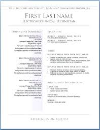 Microsoft Word 2010 Resume Templates Blank Template For