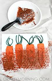 arts and crafts to do at home with toddlers. bubble wrap painting: carrots in the garden arts and crafts to do at home with toddlers s