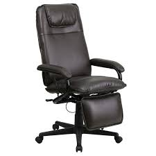 offex high back brown leather executive reclining office chair of bt 70172