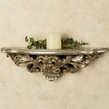 wall sconce shelf baroque elegant decorative wall shelves touch class decorative wall