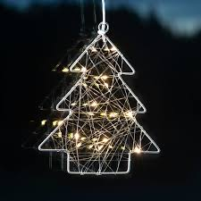 Star Led Fensterdeko Wiry Tannenbaum 202x17x2 Cm Metall Silber