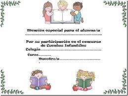formato mencion de honor formatos de diplomas escolares para imprimir imagui lectura