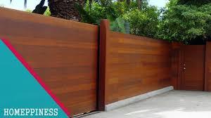 (NEW DESIGN 2017) 20+ Modern Wood Fence Ideas