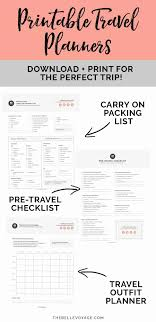 Travel Checklist Printable Ultimate Packing For The Belle Voyage