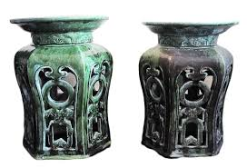 chinese garden stool. Plain Chinese Vintage Chinese Garden Stools Pair In Stool L