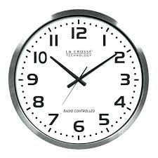 la crosse atomic outdoor clock atomic outdoor wall clock inch atomic aluminum clock la technology atomic