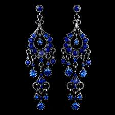 royal blue crystal chandelier formal earrings chandeliers