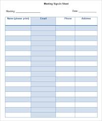 Sample Seminar Sign In Sheet Delectable Name Sign In Sheet Kordurmoorddinerco