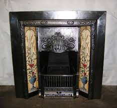 art nouveau cast iron fireplace with tiles iornwright co uk