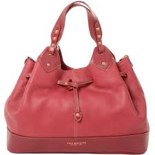 00406352f 2e red large leather drawstring bucket bag