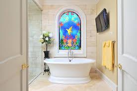 bathroom window ideas stained glass window in bathroom bathroom window treatment ideas