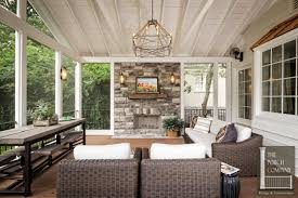 screened in porch with fireplace. Porch Screened Fireplace Mantel Decor Wyl In With T