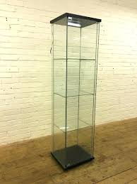 glass display cabinet fresh lighting ideas ikea detolf fres