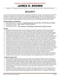 Program Security Officer Sample Resume Unique JAMES D BROWN 44 SECURITY RESUME