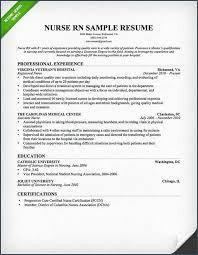 Best Resume Format For Nurses Delectable Sample Rn Resume And Nursing Resume Sample Writing Guide