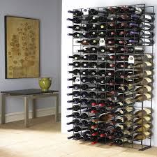wine bottle storage furniture. 144-Bottle Black Floor Wine Rack Bottle Storage Furniture