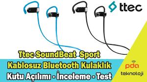 TTEC Soundbeat™ Sport Bluetooth Kulaklık Kutu Açılımı ve İnceleme - YouTube