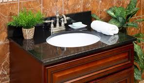 countertop unique cabinet double ideas counter granite bathroom decorating prefabricated without wood menards sinks tops