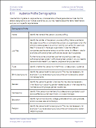 Audience Analysis Template Instant Download Ms Word Excel