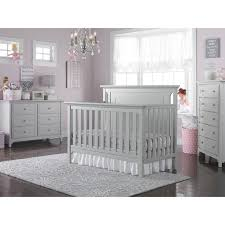gray nursery furniture. Nursery Furniture - Light Grey ----------- Ti Amo Carino Convertible Crib Made To Grow With Your Child, The Is A Beautiful Gray