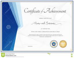 Old Fashioned Certificate Of Achievement Template Ornament
