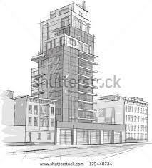 architecture buildings drawings.  Buildings Architecture Sketch Drawing Of BuildingCity And Architecture Buildings Drawings Shutterstock