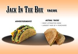 fast food advertising vs reality treehugger jack in the box tacos ad vs reality