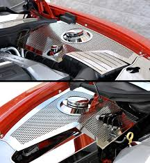 camaro engine dress up camaro engine bay camaro fender covers perforated stainless steel ineer fender covers and fuse box cover for the 2010 2013 camaro