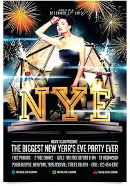 New Year Eve Party Poster Free Vector Years Flyer Template Download ...