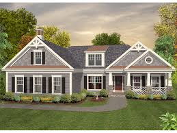 craftsman house plan front of home 013d 0180 house planore