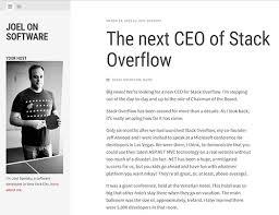 Stack Overflowが新社長を募集中創業者のjoel Spolsky氏私たちは