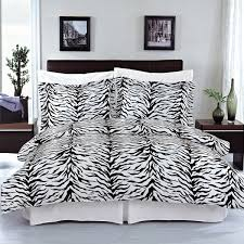 full queen size zebra 100 egyptian cotton duvet cover set