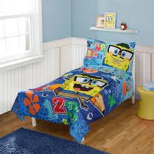 Spongebob Bedroom Furniture Nickelodeon Spongebob Squarepants 4 Pc Toddler Bed Set Walmartcom