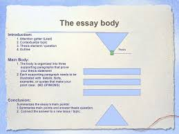the essay body introduction attention getter lead  the essay body introduction 1 attention getter lead 2